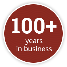100+ years in business