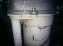 cracked well casing